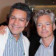 NLD/Amsterdam/20120617 - Premiere Het Geheugen van Water, Frank Sanders en partner Steven Moonen