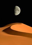 Akakus, Sahara desert, Fezzan, Libya. Digital composite.