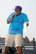 Fresh Daily performs at The 4th Annual Brooklyn HipHop Festival Main performance sponsored by Truth held at Empire Fulton-Ferry State Park on July 12, 2008..The Kings and Queens of Brooklyn return home supported by the next wave from Brooklyn and beyond featuring performances from: KRS One, DJ Premier, Buckshot, Blu & Exile, Mickey Factz, 88-Keys, J.Period, Fresh Daily, Zaki Ibrahim, Homeboy Sandman and Special Guests! Hosted by Uncle Ralph McDaniels ..