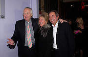 Sir Tim Rice and Patti Boyd, Theo Fennell party to celebrate their 21st Anniversary. The Collection. 28 October 2003. © Copyright Photograph by Dafydd Jones 66 Stockwell Park Rd. London SW9 0DA Tel 020 7733 0108 www.dafjones.com