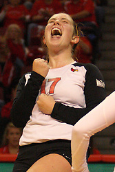 22 September 2012:  Jenny Menendez during an NCAA womens volleyball match between the Bradley Braves and the Illinois State Redbirds at Redbird Arena in Normal IL