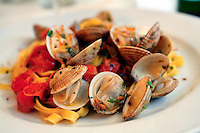 21 Apr 2006, Gaeta, Italy --- Fettuccine with Clams --- Image by © Owen Franken/Corbis
