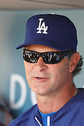 LOS ANGELES, CA - MAY 27:  Manager Don Mattingly #8 of the Los Angeles Dodgers talks to the media before the game against the Houston Astros on Sunday, May 27, 2012 at Dodger Stadium in Los Angeles, California. The Dodgers won the game 5-1. (Photo by Paul Spinelli/MLB Photos via Getty Images) *** Local Caption *** Don Mattingly