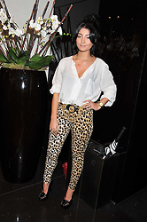 Singer YASMIN ZARINE SHAHMIR at a party hosted by Roberto Cavalli to celebrate his new Boutiques's opening at 22 Sloane Street, London followed by a party at Battersea Power Station, London SW8 on 17th September 2011.