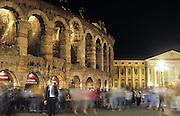 The arena die Verona, illuminated by night