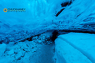 Crystal ice cave in the Vatnajokull Glacier in Jokulsarlon, Iceland
