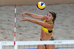 06-01-2019 NED: Dela Beach Open, Den Haag<br /> Brazil Ana Patricia Silva Ramos #1 BRA/ Rebecca Cavalcanti Barbosa Silva #2 BRA win the bronze medal