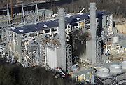 The Kleen Energy plant is seen in this aerial photo after an explosion in Middletown, Conn. <br />
