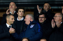 Aleksander Ceferin, president of UEFA  and Greg Clarke, England Football Association Chairman ahead to the football match between National teams of Slovenia and England in Round #3 of FIFA World Cup Russia 2018 Qualifier Group F, on October 11, 2016 in SRC Stozice, Ljubljana, Slovenia. Photo by Vid Ponikvar / Sportida