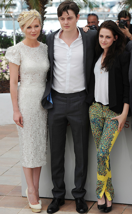 Actors Kirsten Dunst, Sam Riley, Kristen Stewart, during the 65th Annual Cannes Film Festival at Palais des Festivals on May 23, 2012 in Cannes, France..Photo Ki Price.