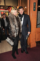 AMANDA WAKELEY and HUGH MORRISON at the gala opening night of Cirque du Soleil's Varekai at the Royal Albert Hall, London on 5th January 2010.