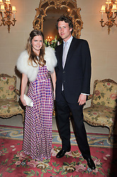 KATIE READMAN and the HON.FREDDIE HESKETH at Tatler's Jubilee Party in association with Thomas Pink held at The Ritz, Piccadilly, London on 2nd May 2012.