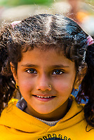 A smiling Gurkha girl in the mountain village of Chitepani, near Pokhara, Nepal.