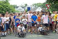Middletown, New York - Racers at tge startubg line at the 16th annual Ruthie Dino-Marshall 5K Run/Walk put on by the Middletown YMCA on Sunday, June 10, 2012.