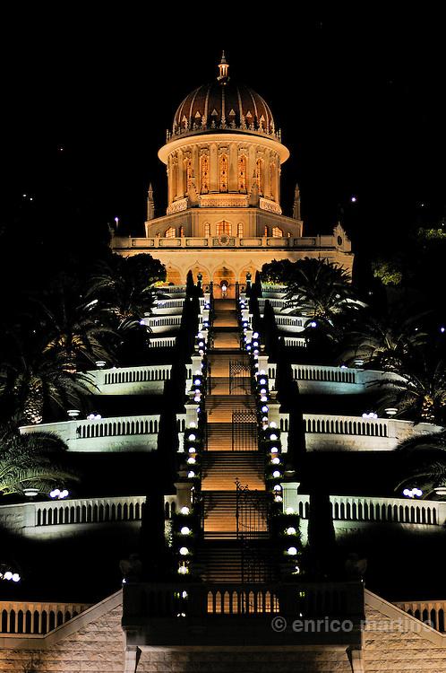 Haifa, i giardini e il tempio Baha'i.