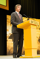 Michael Moore, Secretary of State for Scotland and the Member of Parliament for the constituency of Berwickshire, Roxburgh and Selkirk during his speech at the Liberal Democrats Annual Party Conference, Brighton, Great Britain, September 25, 2012. Photo by Elliot Franks/i-Images.<br />