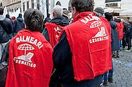 Rome, February 17, 2016<br /> Italian seaside businesses to the streets to protest against the Bolkestein Directive and to prevent that the state concessions end up at auction from 2020.<br /> In Italy there are 30,000 bathing businesses.<br /> Roma, 17 Febbraio 2016<br /> Imprese balneari italiane in piazza per protestare contro la direttiva Bolkestein e per scongiurare che le concessioni demaniali finiscano all'asta a partire dal 2020.<br /> In Italia sono  30.000 imprese balneari
