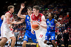 May 26, 2018 - Milan, Milan, Italy - Arturas Gudaitis (#77 EA7 Emporio Armani Milano) drives to the basket during a basketball game of Poste Mobile Playoff Lega Basket A between  EA7 Emporio Armani Milano vs Germani Basket Brescia at Mediolanum Forum, in Milan, Italy, on 26 May 2018. (Credit Image: © Roberto Finizio/NurPhoto via ZUMA Press)
