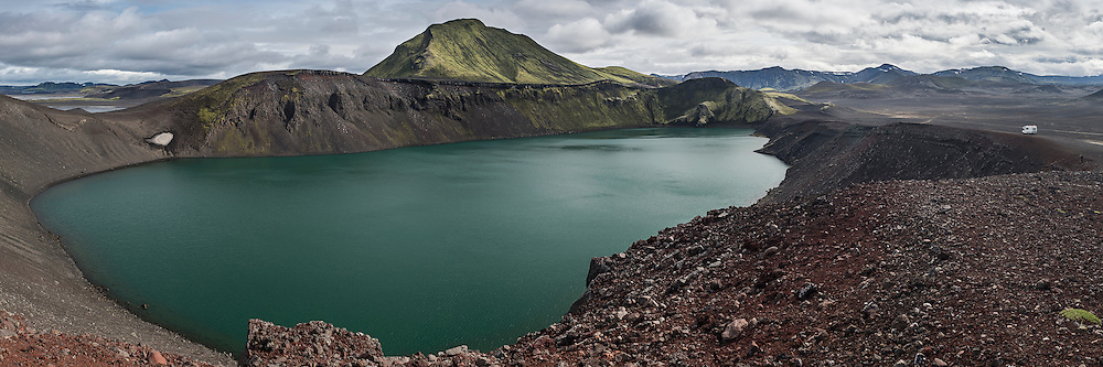 Bláhylur is near Landmannalaugar. The mountain in the background is Tjörfafell.