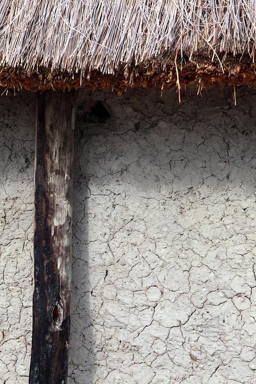 Africa, Botswana, Okavango Delta. Dwelling of dung, mud and reeds in the Okavango.