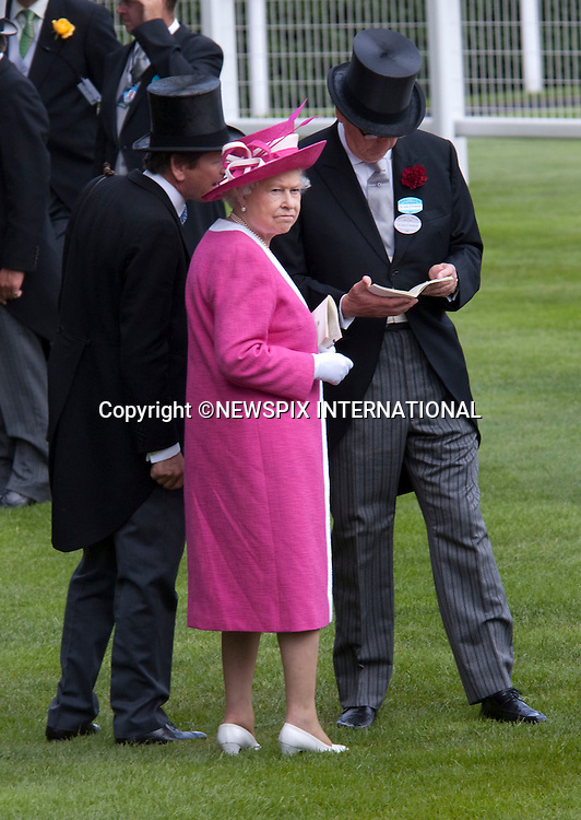 "QUEEN.attends the second day of racing at the Royal Ascot Meeting, Ascot_17/06/2009.Mandatory Photo Credit: ©Dias/Newspix International..**ALL FEES PAYABLE TO: ""NEWSPIX INTERNATIONAL""**..PHOTO CREDIT MANDATORY!!: NEWSPIX INTERNATIONAL(Failure to credit will incur a surcharge of 100% of reproduction fees)..IMMEDIATE CONFIRMATION OF USAGE REQUIRED:.Newspix International, 31 Chinnery Hill, Bishop's Stortford, ENGLAND CM23 3PS.Tel:+441279 324672  ; Fax: +441279656877.Mobile:  0777568 1153.e-mail: info@newspixinternational.co.uk"