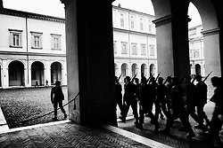 Italian army guards Italy's Presidential Palace, Quirinale.  in Rome on  4 April 2018. Christian Mantuano / OneShot