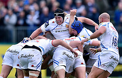 Mitch Lees of Exeter Chiefs in action at a maul - Mandatory byline: Patrick Khachfe/JMP - 07966 386802 - 17/10/2015 - RUGBY UNION - The Recreation Ground - Bath, England - Bath Rugby v Exeter Chiefs - Aviva Premiership.
