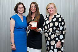 Pictured is, from left, Lincolnshire Co-operative chief executive Ursula Lidbetter, Jo Sims, Lincolnshire Co-operative president Amy Morley<br /> <br /> Lincolnshire Co-operative long service awards 2015, held at The Showroom, Tritton Road, Lincoln.<br /> <br /> Date: September 23, 2015<br /> Picture: Chris Vaughan/Chris Vaughan Photography