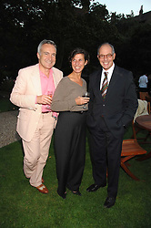 Left to right, STEPHEN & FLO BAYLEY and LOYD GROSSMAN at a party to celebrate the 100th issue of Waitrose's Food Illustrated magazine held at The Physic Garden, Chelsea, London on 13th September 2007.<br /><br />NON EXCLUSIVE - WORLD RIGHTS