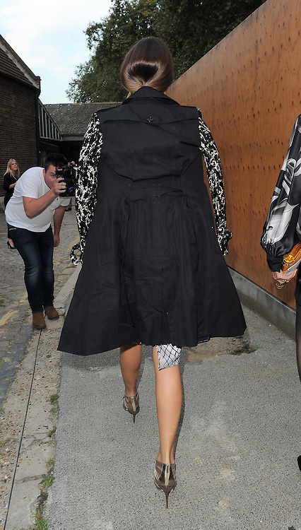 Amber Le Bon attends the GILES show during London Fashion Week Spring Summer 2015 in London, UK. 15/09/2014<br />BYLINE MUST READ : GOTCHAIMAGES.COM<br /><br />Copyright by &copy; Gotcha Images Ltd. All rights reserved.<br />Usage of this image is conditional upon the acceptance <br />of Gotcha Images Ltd, terms and conditions available at<br />www.gotchaimages.com