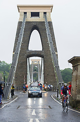 Bradley Wiggins makes his way across the clifton suspension bridge during his time trail.  - Mandatory by-line: Alex James/JMP - 10/09/2016 - CYCLING - Bristol stage of the Tour of Britain