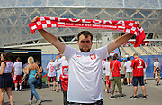 Poland fan during the Euro 2016 match between Poland and Northern Ireland at the Stade de Nice, Nice, France on 12 June 2016. Photo by Phil Duncan.