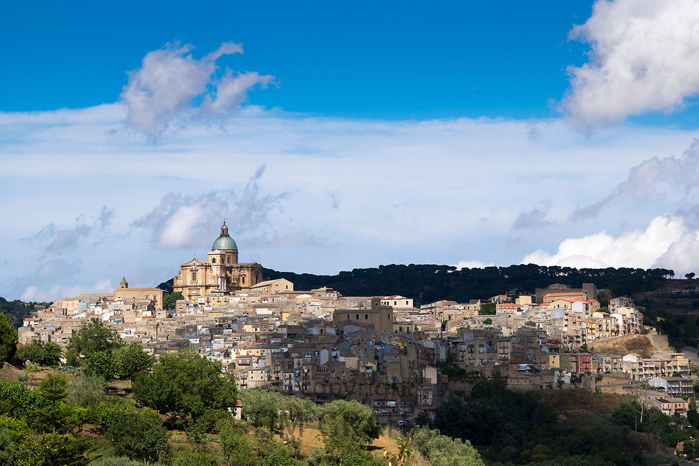 Ancient hill town of Piazza Armerina, Sicily, Italy