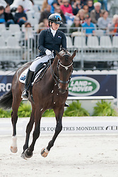 Nicole Banks riding Vledder in the Grade IV Individual Tests at the 2014 World Equestrian Games, Caen, Normandy, France
