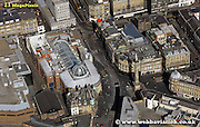 aerial photograph of Blackett Street  North Newcastle upon Tyne England UK