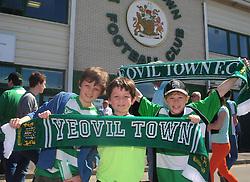 Yeovil Town fans - Photo mandatory by-line: Dougie Allward/JMP - Tel: Mobile: 07966 386802 06/05/2013 - SPORT - FOOTBALL - Huish Park - Yeovil - Yeovil Town V Sheffield United - NPOWER LEAGUE ONE PLAY-OFF SEMI-FINAL SECOND LEG
