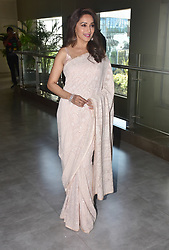 May 4, 2018 - Mumbai, India - Indian film actress Madhuri Dixit present at the trailer launch of Marathi film 'Bucket List' at Cinepolis, Andheri in Mumbai. (Credit Image: © Azhar Khan/SOPA Images via ZUMA Wire)