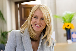 """© Licensed to London News Pictures. 10/06/2019. London, UK.  Tory leadership candidate, Esther McVey arrives to make a pro Brexit speech about """"Taking Back Control of Britain's EU Exit"""" at a Bruges Group event held in Westminster. Many of the Tory leadership candidates are holding launch events in the capital today. Photo credit: Vickie Flores/LNP"""