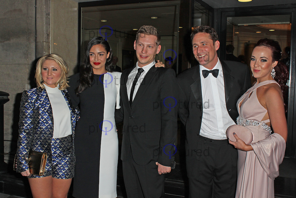 LONDON - March 19: Jazmine Franks, Anna Shaffer, James Sutton, Nick Pickard & Stephanie Davis at the RTS Programme Awards (Photo by Brett D. Cove)