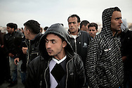 ITALY. Lampedusa: Tunisian migrants arrive in  Lampedusa on  March  28, 2011. Copyright Christian Minelli.
