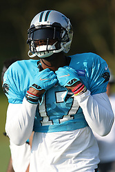 July 28, 2018 - Spartanburg, SC, U.S. - SPARTANBURG, SC - JULY 28: Devin Funchess (17) wide receiver Carolina Panthers walks to the field for the third day of the Carolina Panthers training camp practice at Wofford College July 28, 2018 in Spartanburg, S.C. (Photo by John Byrum/Icon Sportswire) (Credit Image: © John Byrum/Icon SMI via ZUMA Press)