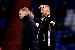 Morecambe manager Jim Bentley - Mandatory by-line: Robbie Stephenson/JMP - 19/02/2019 - FOOTBALL - Boundary Park - Oldham, England - Oldham Athletic v Morecambe - Sky Bet League Two