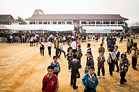 The opening ceremony of the Japanese Encephalitis vaccination campaign in Xieng Khouang province, Laos.