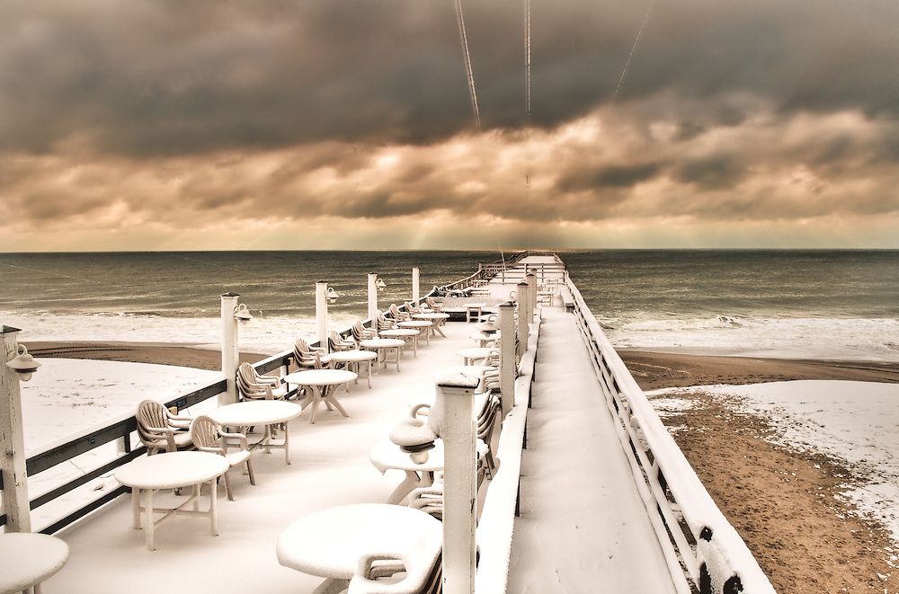 Snow Covered Pier, Wrightsville Beach,NC