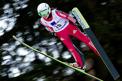 Juliane Seyfarth of Germany competes during FIS Continental Cup Ski Jumping Ladies in Ljubno, on January 23, 2011, at K-85 in Ljubno ob Savinji, Slovenia. (Photo By Vid Ponikvar / Sportida.com)