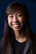 Chloe Lam, ASB treasurer, poses for a portrait in the Library at Milpitas High School in Milpitas, California, on May 15, 2015. (Stan Olszewski/SOSKIphoto)