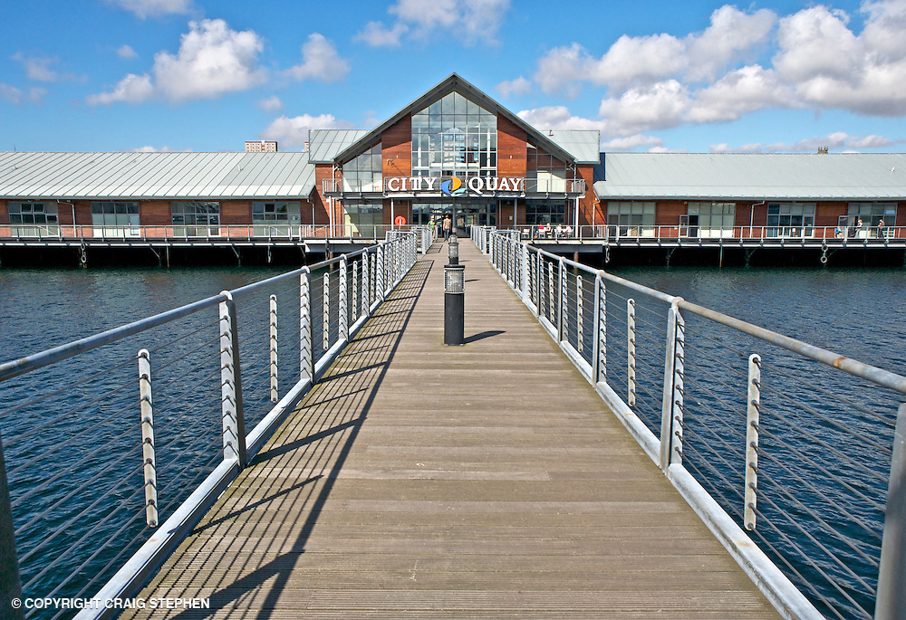 Located around the former Victoria Quay on Dundee's waterfront, City Quay is a retail, leisure and hotel development, which together represents a re-vitalisation of the area costing more than £20 million. Located on the north side of the dock and opened in 2002, the retail complex occupies listed former warehouses and extends out into the dock itself