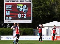Fussball Regionalliga Suedwest 2019/2020    14.09.2019 TSG Balingen - SC Freiburg II Enttaeuschung TSG Balingen nach dem Tor zum 2:0