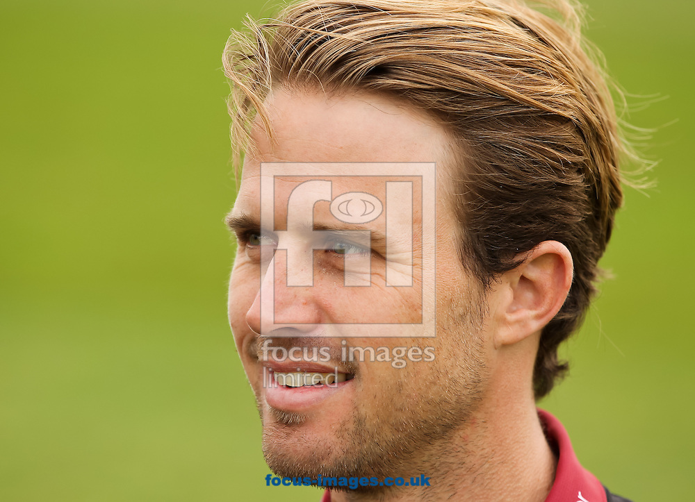 Nick Compton sits for a picture during the Somerset County Cricket Club media day at the County Ground, Taunton, Taunton<br /> Picture by Tom Smith/Focus Images Ltd 07545141164<br /> 31/03/2014