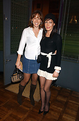 Left to right, SANTA SEBAG-MONTEFIORE and her sister  TARA PALMER-TOMKINSON at a party to celebrate the publication of 'E is for Eating' by Tom Parker Bowles held at Kensington Place, 201 Kensington Church Street, London W8 on 3rd November 2004.<br />